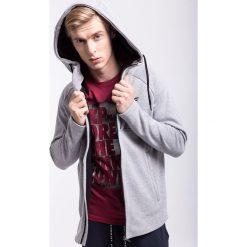 Bluzy męskie: Bluza męska BLM204Z – jasny szary melanż – 4F