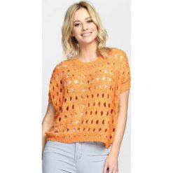 Bluzki damskie: Pomarańczowa Bluzka Two-Way