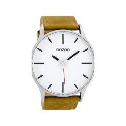 Zegarek OOZOO C8550 brown/white. Białe, analogowe zegarki męskie Moderntime, metalowe. Za 239,00 zł.