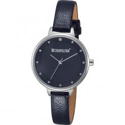 """Zegarek kwarcowy """"Darling"""" w kolorze srebrno-granatowym. Niebieskie, analogowe zegarki damskie METROPOLITAN, metalowe. W wyprzedaży za 130,95 zł."""