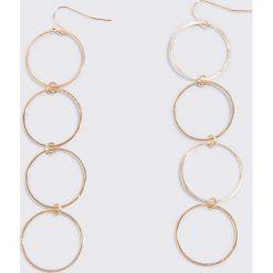 Kolczyki damskie: NA-KD Accessories Kolczyki Small Ring – Gold