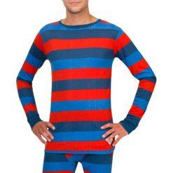 Odzież termoaktywna męska: Woox Funkcyjna Koszulka Termoaktywna Bodyheat Men´s Long Sleeve Stripy czerwono- niebieska r. L
