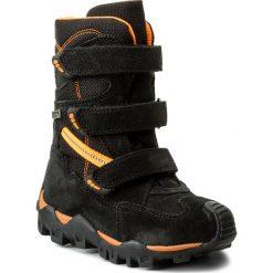 Buty zimowe chłopięce: Śniegowce BARTEK – 94646T-2 Czarny Pomarańcz