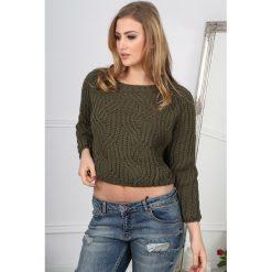 Khaki Sweter BB20391. Czerwone swetry klasyczne damskie marki Fasardi, l. Za 49,00 zł.