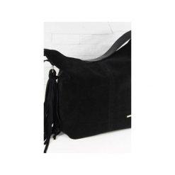 Zamsz-lico Shopper boho czarny. Czarne shopper bag damskie marki Fabiola, z materiału, duże, zamszowe. Za 281,00 zł.