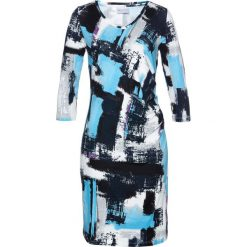 Sukienki hiszpanki: Sukienka shirtowa bonprix ciemnoniebiesko-jasnoniebieski z nadrukiem