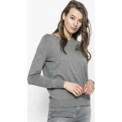 Vero Moda - Sweter. Szare swetry klasyczne damskie Vero Moda, l, z bawełny, z okrągłym kołnierzem. Za 119,90 zł.
