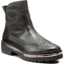 Botki TAMARIS - 1-25452-29 Black 001. Szare buty zimowe damskie marki Tamaris, z materiału, na sznurówki. W wyprzedaży za 199,00 zł.