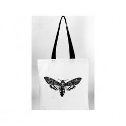 Zmierzchnica - torba z grubego płótna bawełnianego. Białe torebki klasyczne damskie Waldziograf, z nadrukiem, z bawełny, z nadrukiem. Za 59,00 zł.