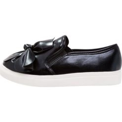 Creepersy damskie: Lost Ink Wide Fit SCARLETT BOW FRONT SLIP ON TRAINER Półbuty wsuwane black