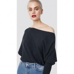 Trendyol Sweter z odkrytymi ramionami - Navy. Szare swetry klasyczne damskie marki Vila, l, z bawełny, z okrągłym kołnierzem. Za 80,95 zł.