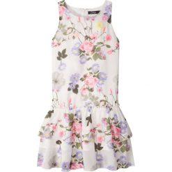 Sukienki dziewczęce: Sukienka w kwiaty bonprix biały w kwiaty