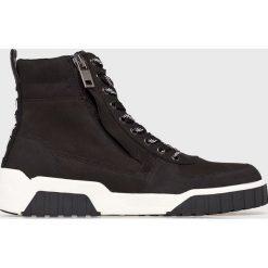 Diesel - Buty. Szare buty skate męskie Diesel, z materiału, na sznurówki. Za 869,90 zł.
