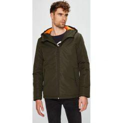 Jack & Jones - Kurtka. Czarne kurtki męskie przejściowe marki Jack & Jones, l, z bawełny, z okrągłym kołnierzem. Za 259,90 zł.