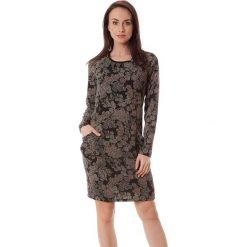 Sukienki hiszpanki: Sukienka w kolorze czarno-brązowym