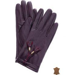 Rękawiczki damskie: Skórzane rękawiczki z troczkami