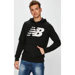 New Balance - Bluza. Szare bluzy męskie rozpinane New Balance, m, z nadrukiem, z bawełny, z kapturem. Za 229,90 zł.