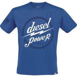 T-shirty męskie: Diesel Power Gear Gear Head T-Shirt błękitny