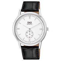 Zegarek Q&Q Męski Klasyczny  QA60-301 Pasek czarny. Czarne zegarki męskie Q&Q. Za 158,68 zł.