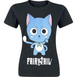 Bluzki asymetryczne: Fairy Tail Happy High Five Koszulka damska czarny