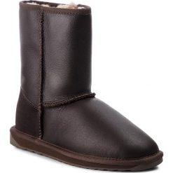 Buty EMU AUSTRALIA - Townsend W10715 Chocolate. Brązowe buty zimowe damskie marki EMU Australia, ze skóry, na niskim obcasie. Za 769,00 zł.