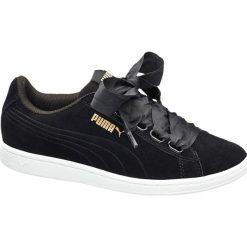 Buty damskie Puma Vikky Ribbon Puma czarne. Czarne buty sportowe damskie marki Nike, z materiału, nike tanjun. Za 219,90 zł.