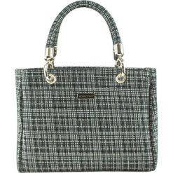 Torebki klasyczne damskie: Skórzana torebka w kolorze czarno-białym – (S)30 x (W)22 x (G)12 cm