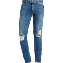 Topman BLOW Jeans Skinny Fit blue. Niebieskie jeansy męskie marki Topman. W wyprzedaży za 174,30 zł.