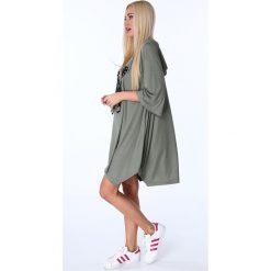 Sukienki: Sukienka z motylem khaki 17380