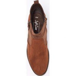 Jana - Botki. Brązowe buty zimowe damskie marki NEWFEEL, z gumy. W wyprzedaży za 129,90 zł.