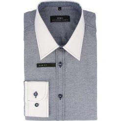 Koszula ARMANDO slim 14-05-23. Białe koszule męskie na spinki marki INESIS, m, z bawełny, z długim rękawem. Za 149,00 zł.