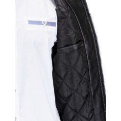 KURTKA MĘSKA PRZEJŚCIOWA SKÓRZANA C334 - CZARNA. Szare kurtki męskie przejściowe marki Lacoste, z gumy, na sznurówki, thinsulate. Za 119,00 zł.