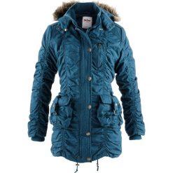 Płaszcze damskie: Płaszcz zimowy bonprix niebieskozielony morski