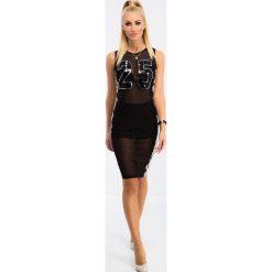 Sukienki: Czarna Szyfonowa Sukienka BB5312