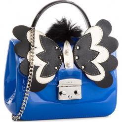 Torebka FURLA - Candy Melita 961710 B BQA5 J63 Ginepro e/Onyx. Niebieskie torebki klasyczne damskie Furla, z tworzywa sztucznego. W wyprzedaży za 709,00 zł.
