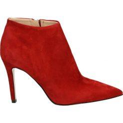 Botki - 0970 CAM RED. Czerwone botki damskie skórzane Venezia. Za 449,00 zł.