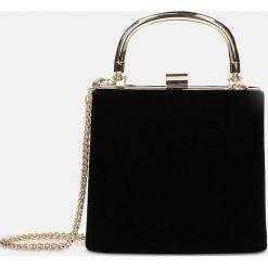 d80fef3eb5c11 Czarna torebka wieczorowa. Czarne torebki klasyczne damskie marki Kazar,  eleganckie, przez ramię.