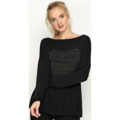 Swetry klasyczne damskie: Czarny Sweter Minnesota
