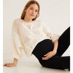 Mango - Legginsy ciążowe Mum. Szare legginsy ciążowe Mango, l, z bawełny. Za 69,90 zł.