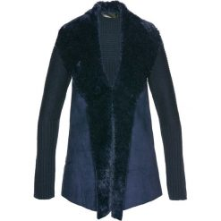 Sweter rozpinany ze sztucznym futerkiem bonprix ciemnoniebieski. Szare kardigany damskie marki Mohito, l. Za 79,99 zł.