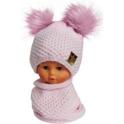 Czapka dziecięca z kominkiem CZ+K 173B różowa r. 48-50. Czerwone czapeczki niemowlęce marki Proman. Za 62,96 zł.