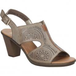 Sandały ażurowe Rieker 64151-62. Czarne sandały damskie marki Rieker, z materiału. Za 188,99 zł.