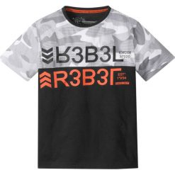 Odzież chłopięca: T-shirt moro bonprix czarny z nadrukiem