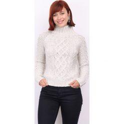 Sweter w kolorze beżowym. Brązowe swetry klasyczne damskie marki DN.SIXTYSEVEN, xxs, z dzianiny, ze stójką. W wyprzedaży za 152,95 zł.