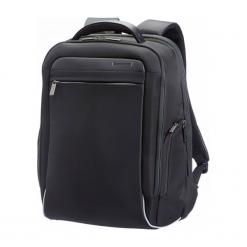 "Samsonite Spectrlolite 15.6"" czarny. Czarne plecaki męskie Samsonite, w paski, z materiału. Za 599,00 zł."