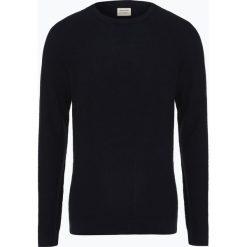 Jack & Jones - Sweter męski, niebieski. Czarne swetry klasyczne męskie marki Jack & Jones, l, z bawełny, z klasycznym kołnierzykiem, z długim rękawem. Za 119,95 zł.