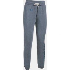 Spodnie sportowe damskie: Under Armour Spodnie dresowe damskie Favorite Fleece Pant szaro-granatowe r. S (1302363-410)