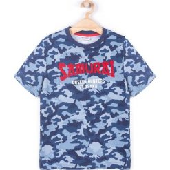 Coccodrillo - T-shirt dziecięcy 128-158 cm. Białe t-shirty chłopięce z nadrukiem marki COCCODRILLO, m, z bawełny, z okrągłym kołnierzem. Za 49,90 zł.