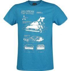 T-shirty męskie: Powrót do przyszłości Delorean Time Machine T-Shirt odcienie niebieskiego