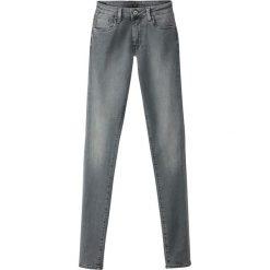 Dżinsy skinny REGENT. Szare jeansy damskie marki La Redoute Collections, m, z bawełny, z kapturem. Za 399,84 zł.